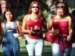 NINTH GRADE GIRLS FASCINATED BY STEROIDS