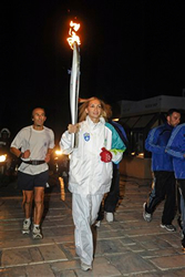Banned athlete due to steroids use made to carry the Olympic torch