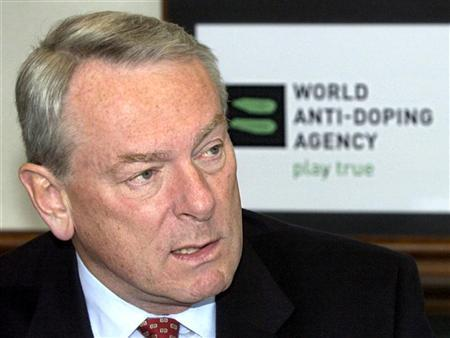 World Anti-Doping Agency (WADA) Chairman Dick Pound talks to the media during a news conference in M..