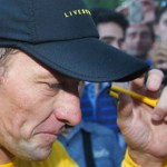 Lance Armstrong in Montreal in August