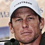 Lance Armstrong at a press conference in Tenerife