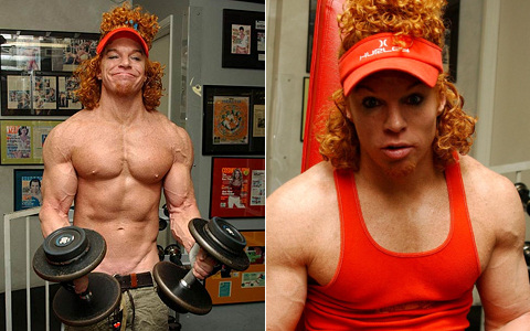 Carrot Top On Steroids Before and After